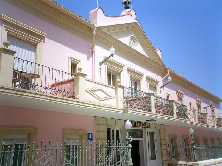 Baños Romanos Fortuna:Fachada del Hotel Balneario de Fortuna [Balneario de Fortuna]