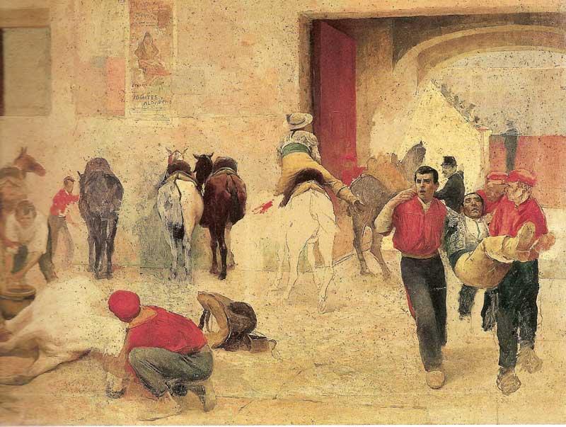 La cogida del toro, por I. Medina Vera