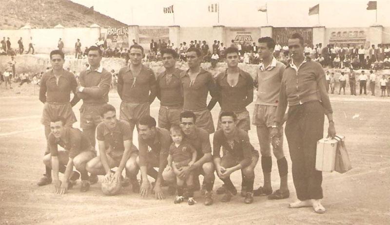 Jugadores del Abarán que lograron el ascenso a Tercera División en 1960