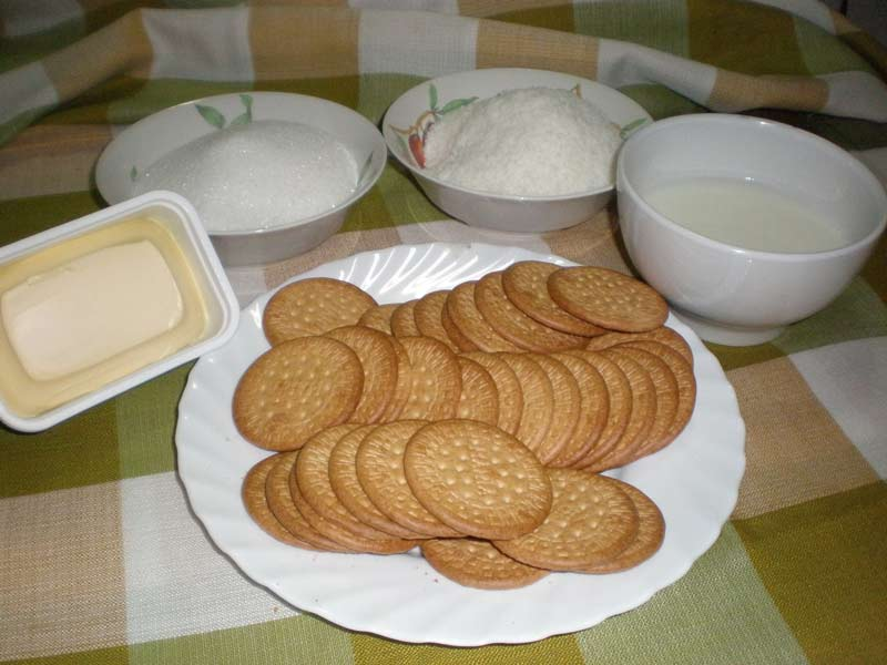 Ingredientes de galletas con coco