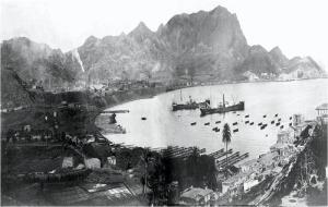 Cargueros en el puerto de Portmán en el s. XIX [La Unión_Minería]