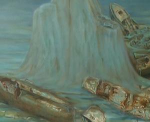 El Sirio, hundido en el fondo marino de las Islas Hormigas (Cabo de Palos) junto a otros barcos