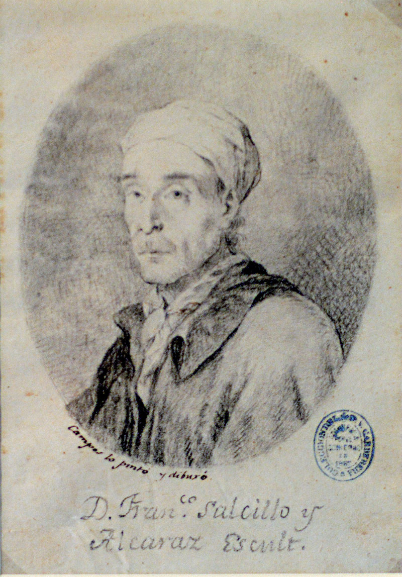 J. Campos. Retrato de Francisco Salzillo. 1781-1783