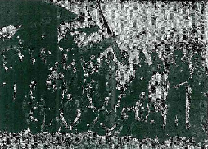 Pilotos del aeródromo de Los Alcázares durante la Guerra Civil