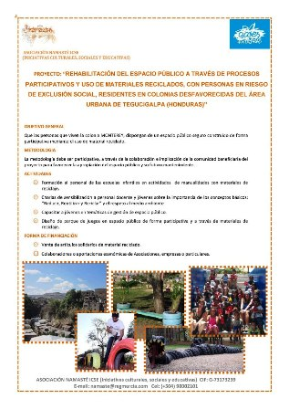 Proyecto Namasté Acoes 2013