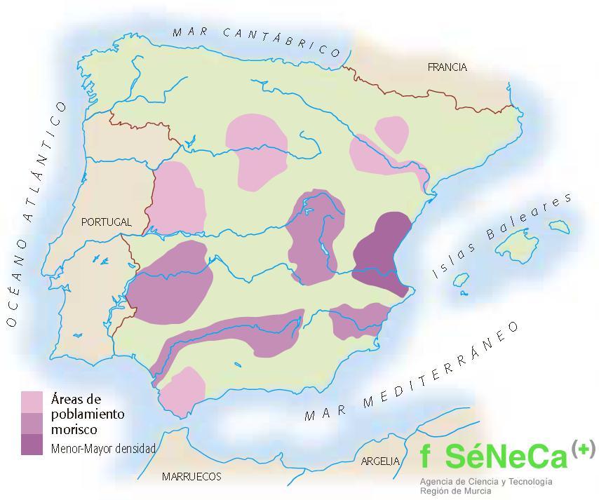 Poblamiento morisco en los territorios peninsulares, segun Lapeyse