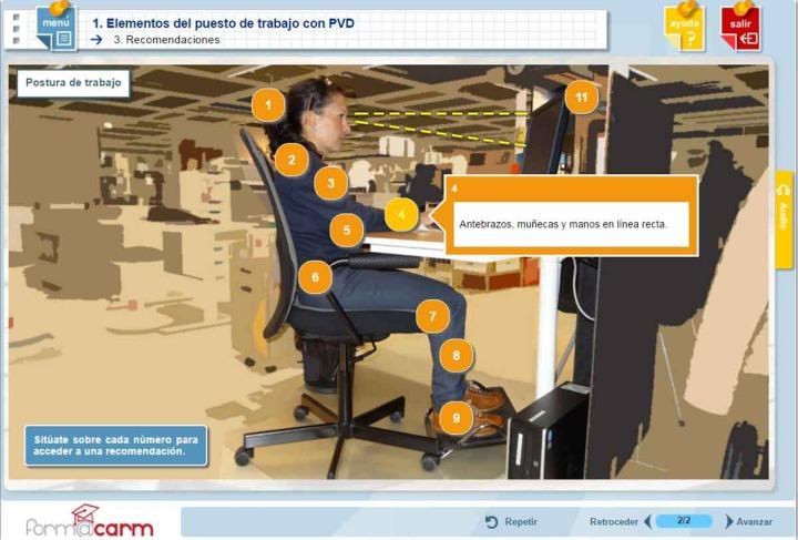 Nuevo curso en form carm de prevenci n de riesgos for Riesgos laborales en oficinas administrativas