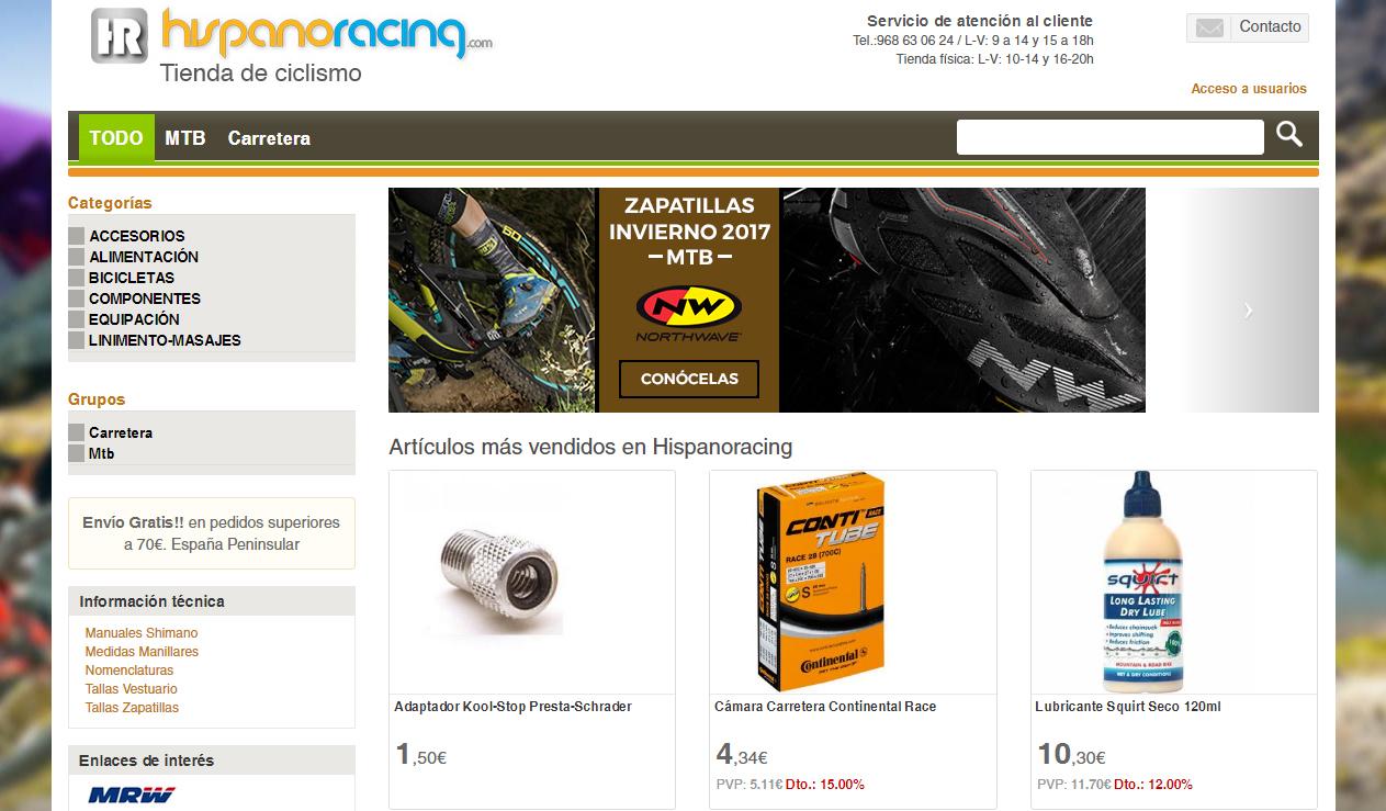 Hispanorazing tienda online