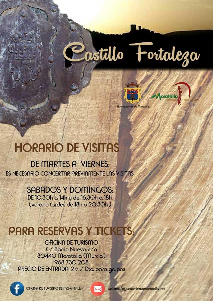 Horario de visitas al Castillo Fortaleza de Moratalla