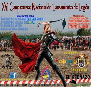 XVI Campeonato Nacional de Lanzamiento de Legón en El Paraje
