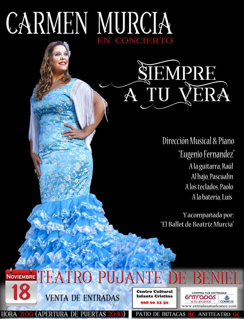 Concierto Carmen Murcia en Teatro Pujante de Beniel