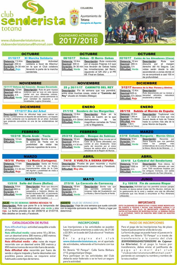 Programa de rutas 2017-18