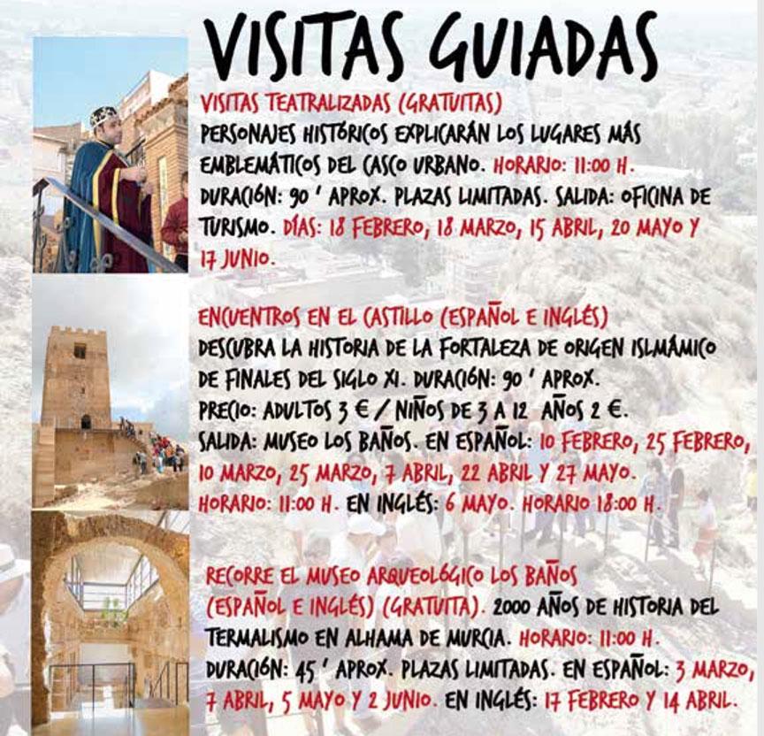 Visitas Guiadas. Alhama de Murcia 2018
