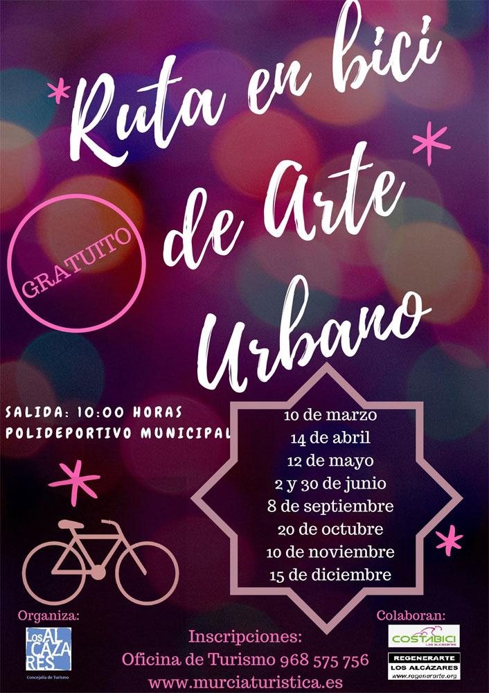 Ruta en bici de arte urbano por Los Alcázares 2018