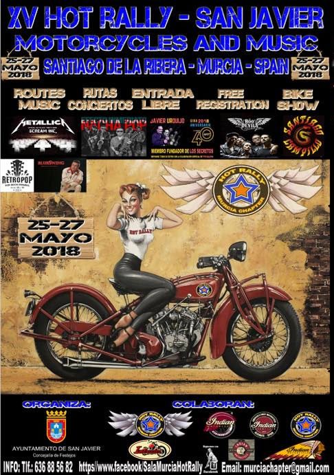 XV HOT RALLY: MOTORCYCLES AND MUSIC EN SAN JAVIER