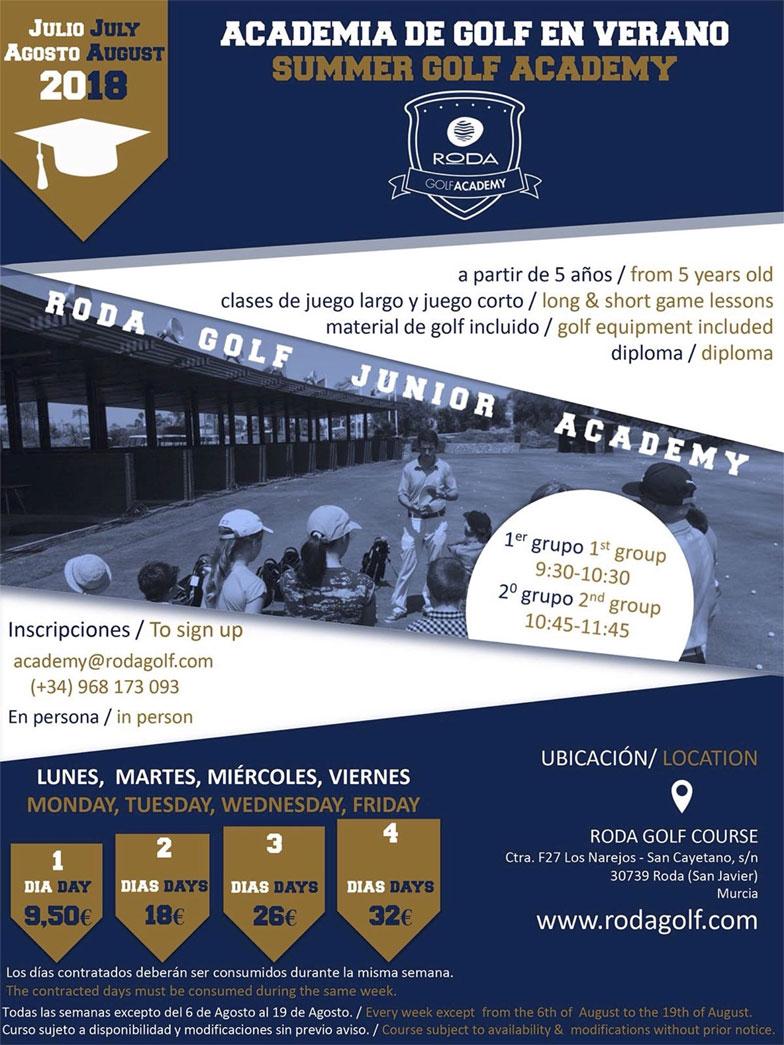 Academia de Golf en Verano