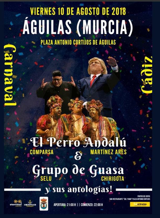 Carnaval de Cádiz presenta El perro Andalú & Grupo de Guasa y sus antologías en Águilas - Murcia