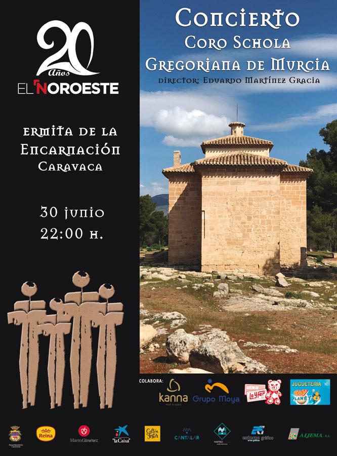 Concierto de la Schola Gregoriana de Murcia en Caravaca