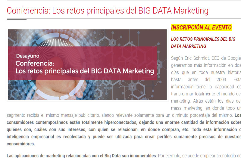Los retos principales del BIG DATA Marketing