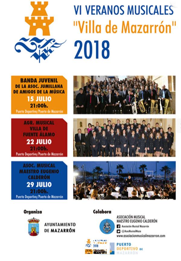 Cartel VI Veranos Musicales 2018