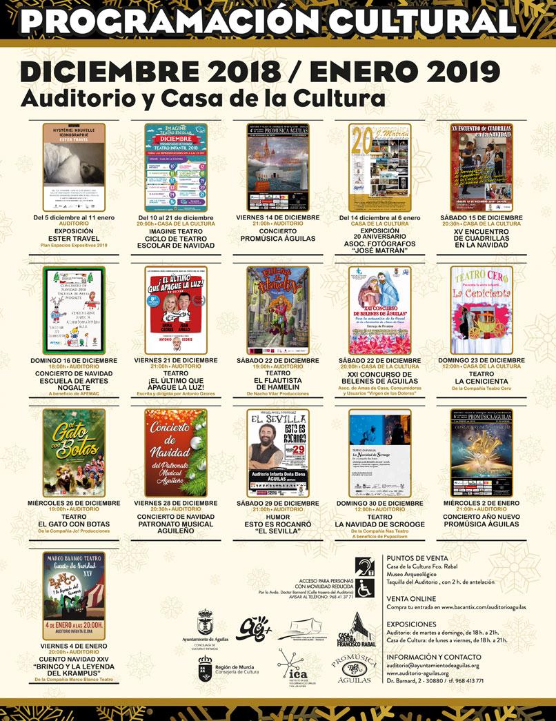Programación cultural 2018-19
