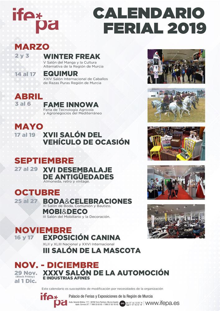 Calendario Ferial IFEPA 2019
