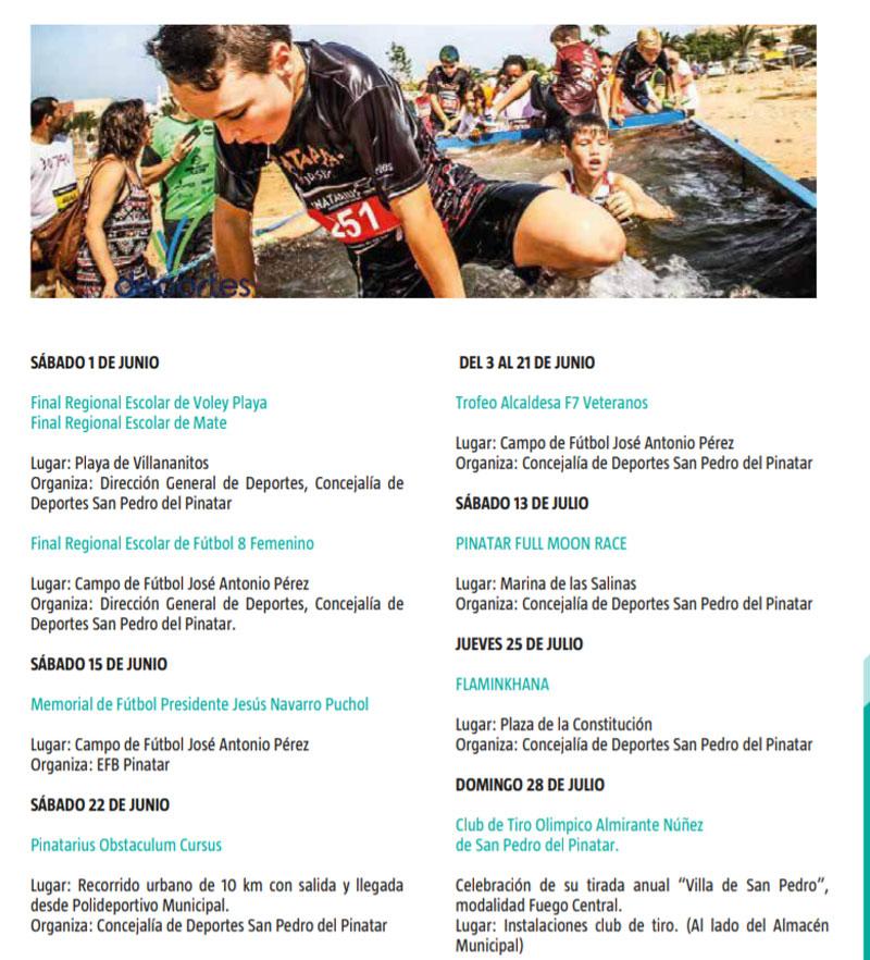 Eventos deportivos (junio y julio)