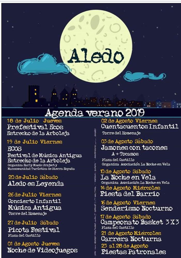 Aledo. Agenda verano 2019