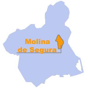 Mapa Molina De Segura.Mapa De Situacion De Molina De Segura Region De Murcia Digital