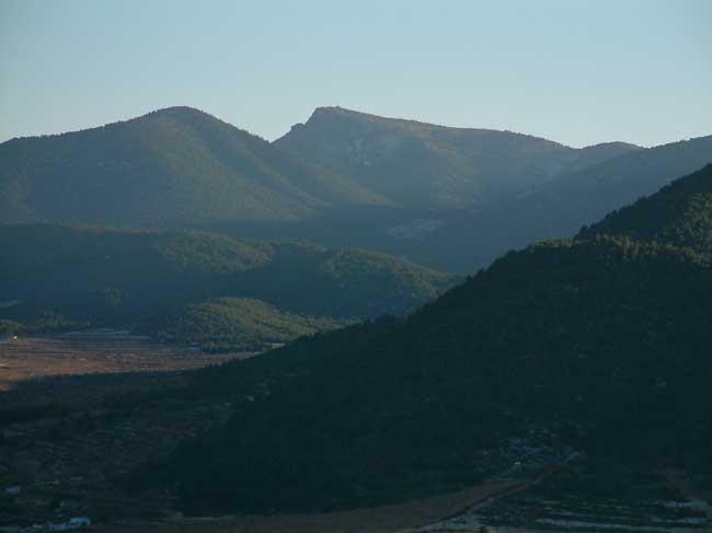 Panorámica del Pico de la Selva, en el centro