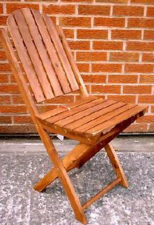 Muebles de jard n sillas plegables de madera origen for Muebles jardin murcia