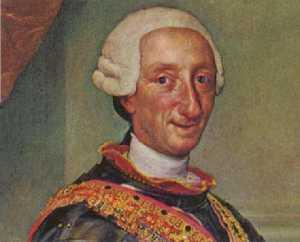 Retrato del monarca Carlos III