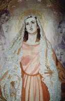 Estandarte de la Virgen de la Amargura del Paso Blanco