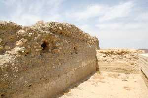 Muro del Castillo de Nogalte en Puerto Lumbreras