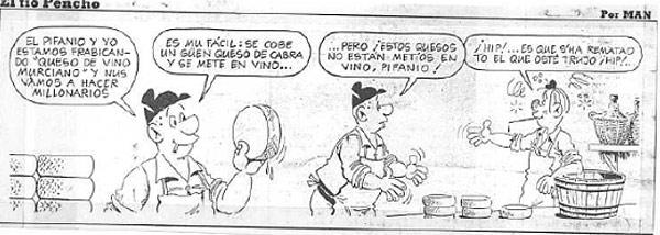 Viñeta del tio Pencho que apareció en el diario La Verdad del día 28-03-1987