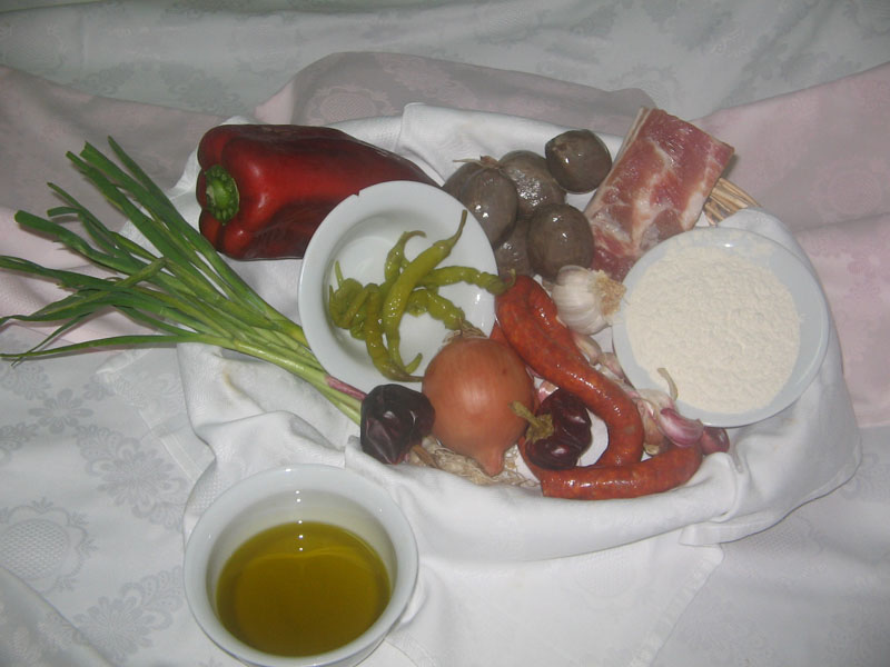 Ingredientes de las tortilleras