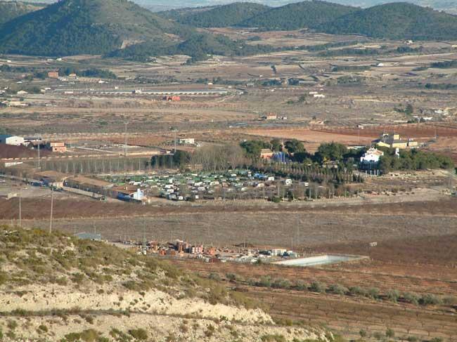 Vista general del Camping de la Rafa