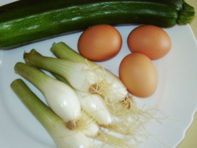 Ingredientes del Zarangollo