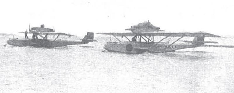Dos hidroaviones de la base militar de Los Alcázares